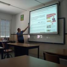 """Monitora impartiendo un taller en IES """"Seritium"""""""